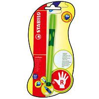 Ручка шариковая для правши зеленая STABILO LEFTRIGHT, чернила синие в блистере6328/2-BL-41