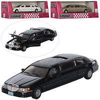 Модель машинки Ford Lincoln Town Car Stretch Limousin KT 7001 W Kinsmart