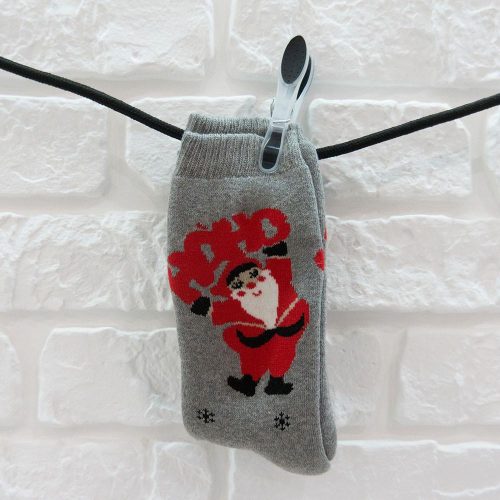 Носки женские из хлопка темно-серый