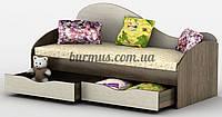 Кровать с ящиками для белья  Идеал