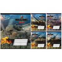 Тетрадь в линию 12 листов А5, Зошит Украины Wot Fire 793980