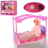 Меблі 193 ліжко, Кукла, вбрання, гребінець, взуття, кор., 33,5-30,5-16 см.
