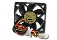 Вентилятор , 50x50x10мм, с подшипником скольжения, 12В, 250мм кабель