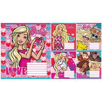 Тетрадь в линию 12 листов А5, 1 Вересня Barbie Сердце 679118