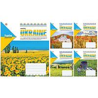Тетрадь в клетку 96 листов А5, Зошит Украины Родной край 794408