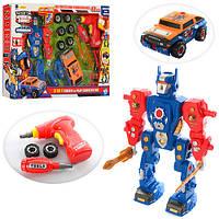 Конструктор «Робот с машинкой» 661-192, 43 детали