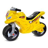 Каталка-мотоцикл 2-х колесный с сигналом 501 в.3 Орион, лимонный