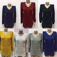 Женский теплый свитер в ассортименте оптом