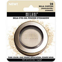 Гелево-пудровые тени-хайлайтер Milani Bella Eyes Gel Powder Eyeshadow, Bella Chiffon
