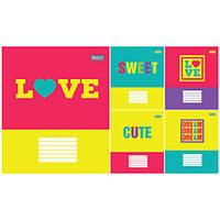 Тетрадь в линию 18 листов А5, 1 Вересня Love 678768