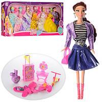 Игровой набор кукла с одеждой 975-5