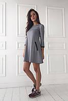 Женское платье А силуэта средней длины француз много цветов 2810/17 ЛЛ