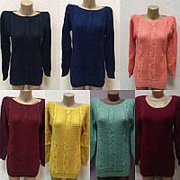 Вязаный женский свитер цвет на выбор от1шт, фото 1