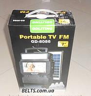 Солнечная система с телевизором TV FM GDLite GD-8086 (станция ТВ ФМ 8086)