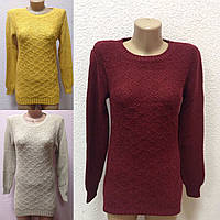 Теплый женский вязанный свитер оптом