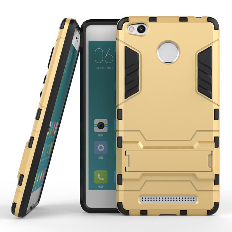 Чехол Xiaomi Redmi 3S / 3S Pro / 3 Pro Hybrid Armored Case золотой
