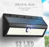 Светильник  ARILUX 62 Led  3 режима  на солнечной батарее с датчиком движения AL-SL06
