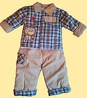 """Теплый детский костюм """"Мишка"""", на синтапоне, - курточка и штанишки, 3 м"""