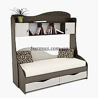 Кровать односпальный с ящиками Идеал + Надстройка ПК-2
