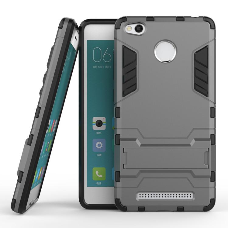 Чехол Xiaomi Redmi 3S / 3S Pro / 3 Pro Hybrid Armored Case темно-серый