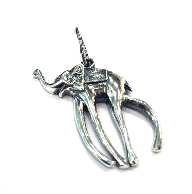 Серебряная подвеска Слон Дали