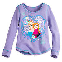 Реглан для девочки 7/8 лет Анна и Эльза Холодное сердце Дисней / Long Sleeve Thermal Tee Disney