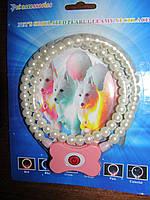 Oшейник ожерелье из жемчуга для собак (светится)