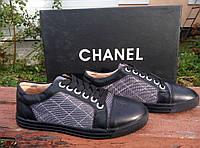 Кожаные туфли, мокасины, ботинки Chanel, Шанель,  черного цвета, черный цвет