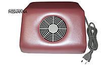 Вытяжка для маникюра (большая) 30х27х11 см Absorb Dustmachine розовая