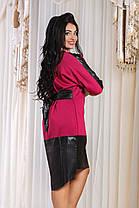 ДР741  Платье с отделкой из экокожи размеры 42-48, фото 3
