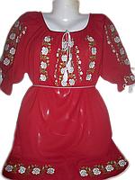 """Жіноча вишита блузка """"Трояндова ніжнічть"""" (Женская вышитая блузка """"Розовая нежность"""") BL-0053"""