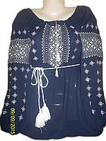"Жіноча вишита блузка ""Сріблястий орнамент"" (Женская вышитая блузка ""Серебристый орнамент"") BL-0003"