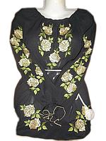 """Жіноча вишита блузка """"Золотисті троянди"""" (Женская вышитая блузка """"Золотистые розы"""") BL-0011"""