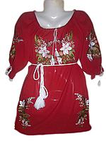"Жіноча вишита блузка ""Білі лілії"" (Женская вышитая блузка ""Белые лилии"") BL-0002"