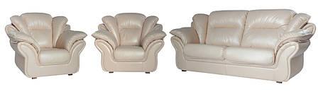 """Комплект кожаной мебели """"Ginger"""" (Джинджер). (3р+1+1), фото 2"""
