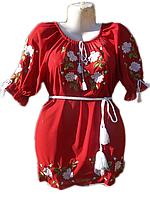 "Жіноча вишита блузка ""Білі троянди"" (Женская вышитая блузка ""Белые розы"") BL-0005"
