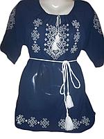 """Жіноча вишита блузка """"Білий орнамент"""" (Женская вышитая блузка """"Белый орнамент"""") BL-0008"""