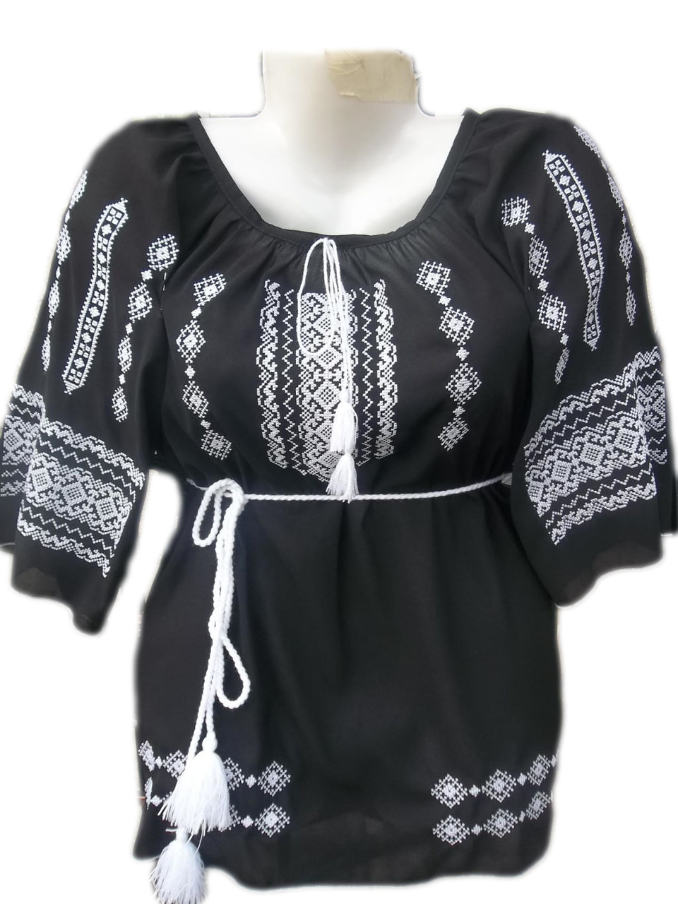 """Женская вышитая рубашка """"холодный узор"""" BL-0010"""