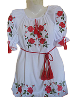 "Жіноча вишита блузка ""Червоні троянди"" (Женская вышитая блузка ""Красные розы"") BL-0017"