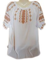 """Жіноча вишита блузка """"Кремовий узор"""" (Женская вышитая блузка """"Кремовый узор"""") BL-0024"""