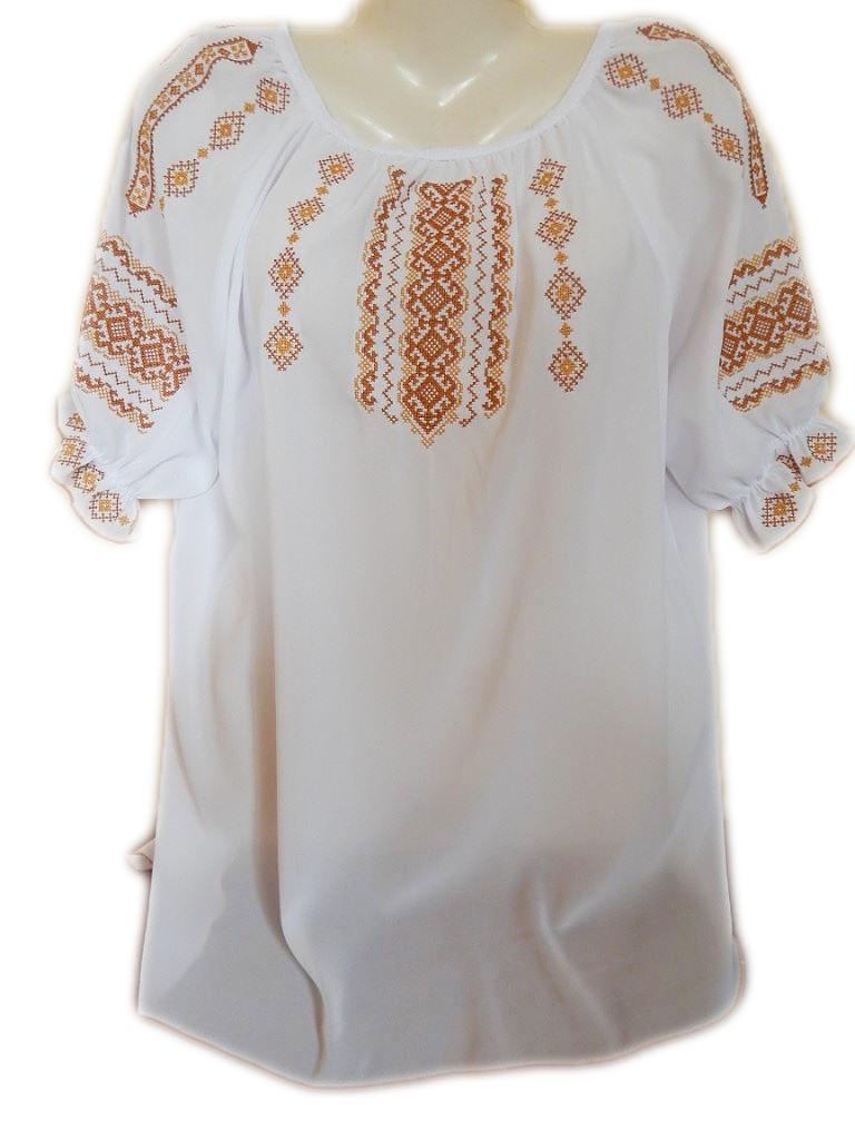 """Женская вышитая рубашка """"Кремовый узор"""" BL-0024"""