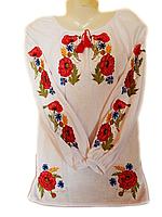 """Жіноча вишита блузка """"Польові квіти"""" (Женская вышитая блузка """"Полевые цветы"""") BL-0025"""