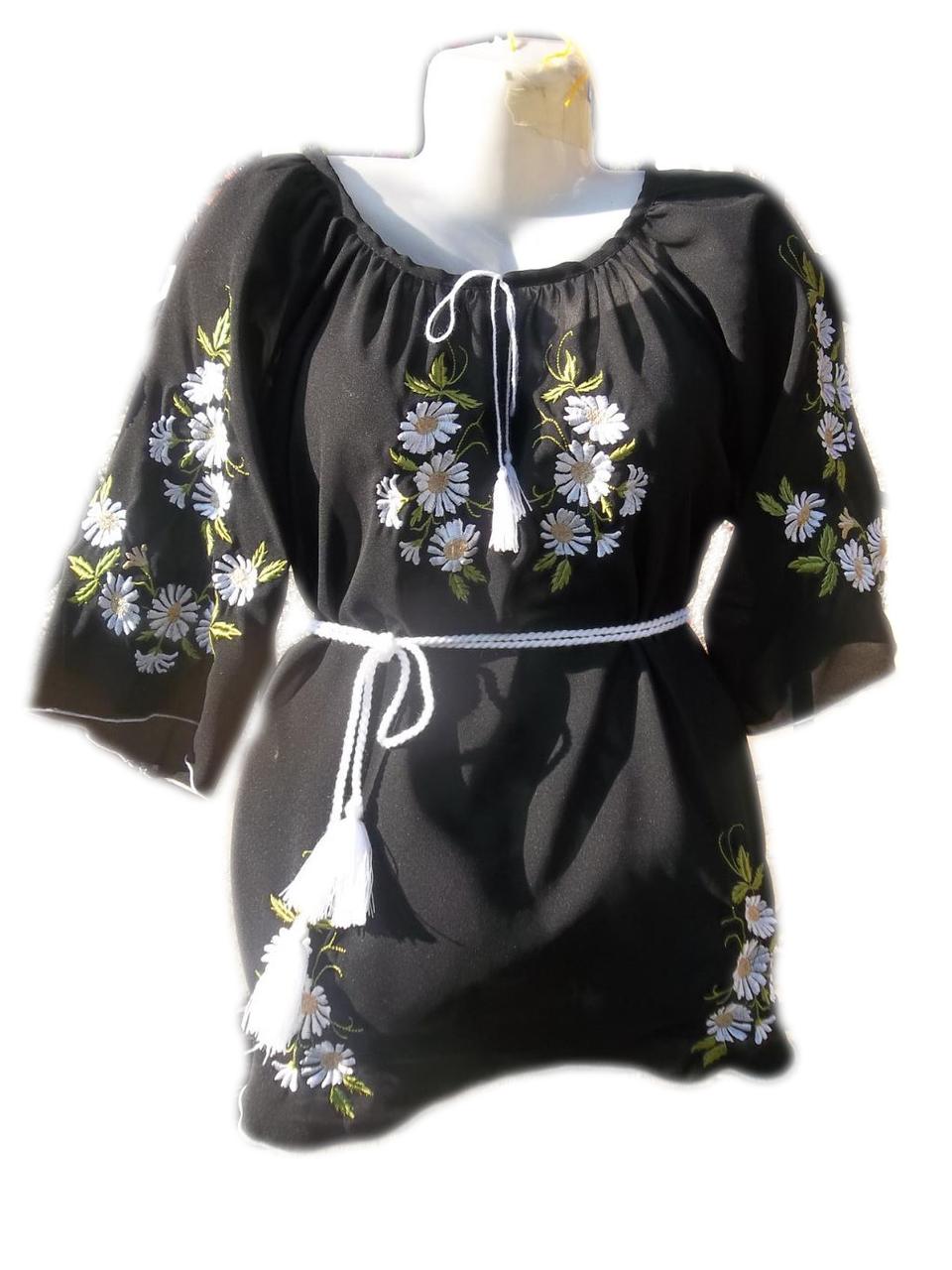 """Женская вышитая рубашка """"Букет ромашек"""" BL-0027"""