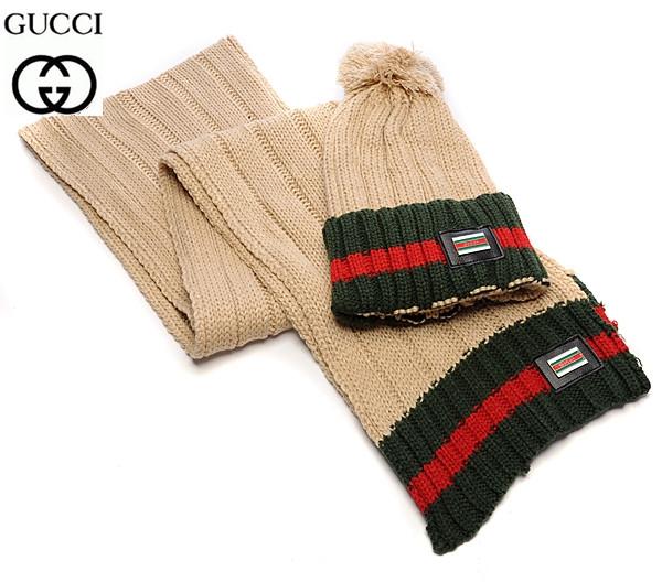 Разные цвета Gucci шапка + шарф вязаные для взрослых и подростков хлопок гуччи