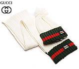 Разные цвета Gucci шапка + шарф вязаные для взрослых и подростков хлопок гуччи, фото 3