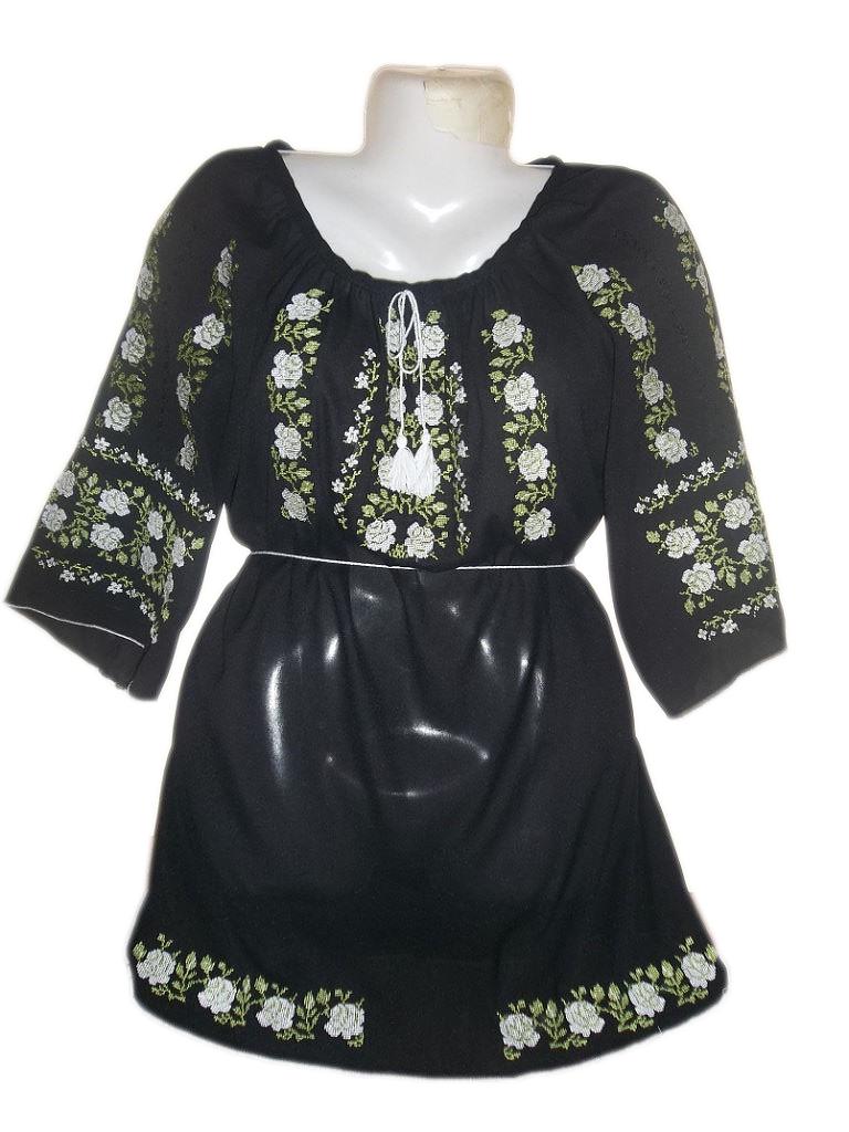 """Женская вышитая рубашка """"Мелодия роз"""" BL-0031"""