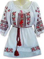 """Жіноча вишита блузка """"Ладний узор"""" (Женская вышитая блузка """"Нежный узор"""") BL-0033"""