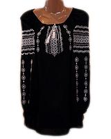 """Жіноча вишита блузка """"Білосніжний узор"""" (Женская вышитая блузка """"Белоснежный узор"""") BL-0035"""