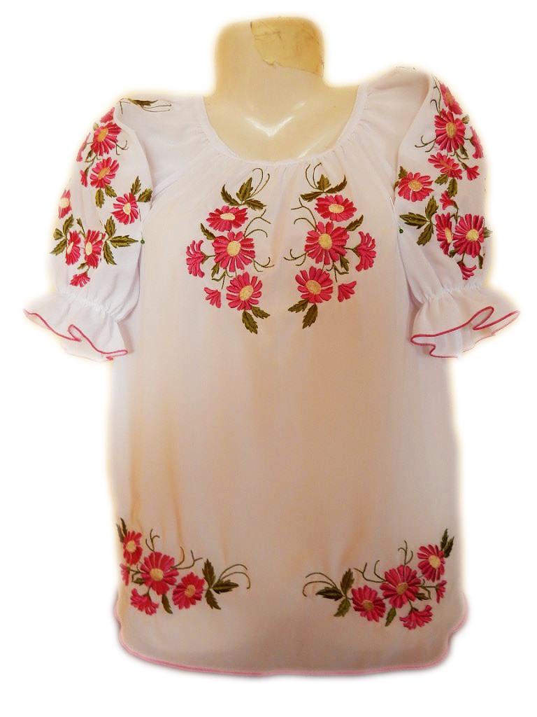 "Жіноча вишита сорочка (блузка) ""Яскраві ромашки"" (Женская вышитая рубашка (блузка) ""Яркие ромашки"") BL-0036"