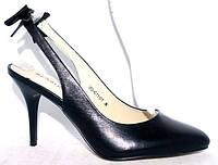 Итальянские туфли с открытой пяткой